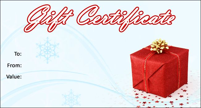 Free Christmas Gift Certificate Template 03 - Gift Template