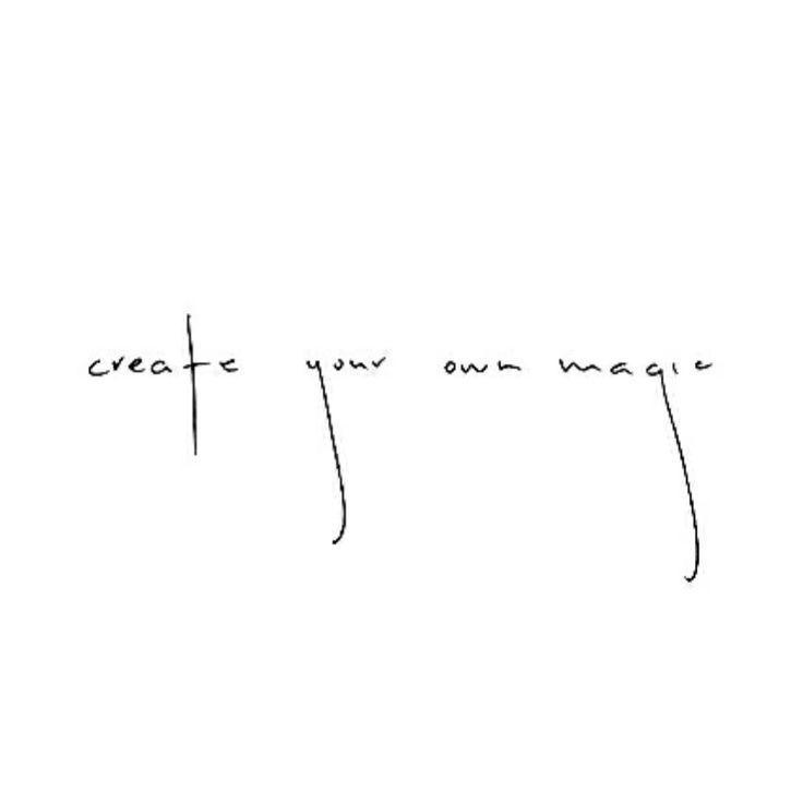 Erschaffe deine eigene Magie. Zitat, Mantra, Bestätigung, … – #Affirmation #affirmatio … – wasserfall