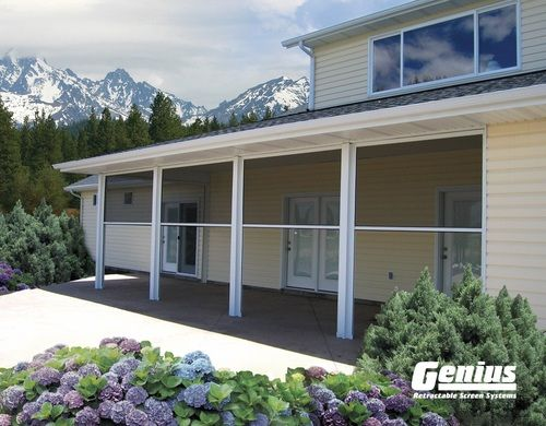 Retractable Insect Screens | Pull Down Porch Screen | Disappearing Screen Doors - Metro Screenworks