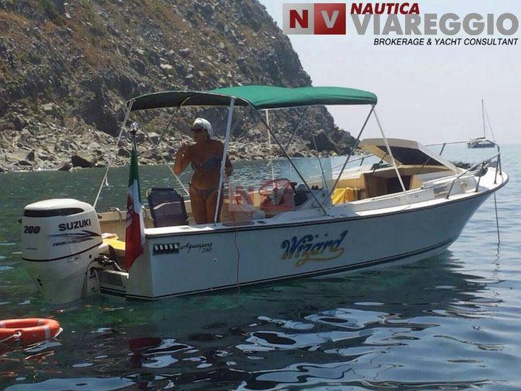 #aquasport240 #seahunter #nauticaviareggio - http://www.nauticaviareggio.com/barcheusate/aquasport/aquasport-240-sea-hunter-501.htm