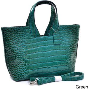 Dasein Patent Croc-embossed Satchel - NOW $45 / Was $53