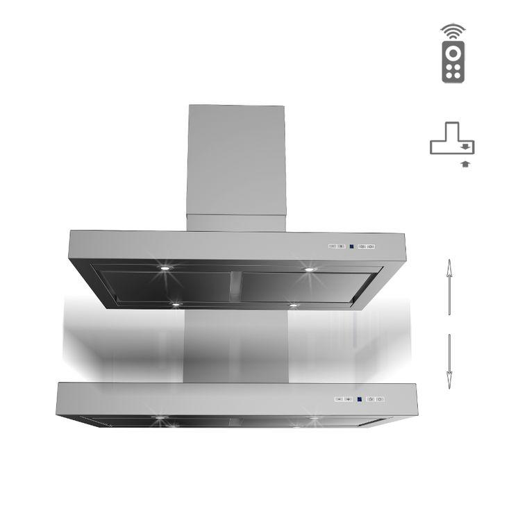 Okap wyspowy opuszczany Ciarko Design T Line W Lift http://www.sklep.ciarkodesign.pl/e-sklep/okapy-wyspowe/t-line-w-lift-13-detail  #DESIGN #KitchenIsland #OKAP