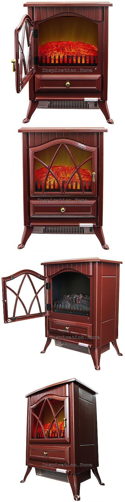 Other Fireplaces and Stoves 20564: Free Standing Log Electric Fireplace Heater Adjustable Manual Control Red Color -> BUY IT NOW ONLY: $99.99 on eBay!