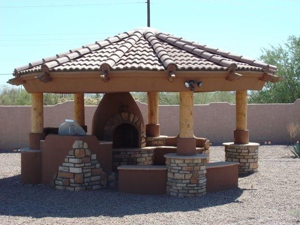 Outdoor Gazebo Plans With Fireplace Gazebo With Fire Pit Gazebo