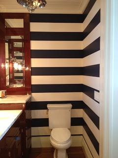 wallpaper in powder bath. Amazing.