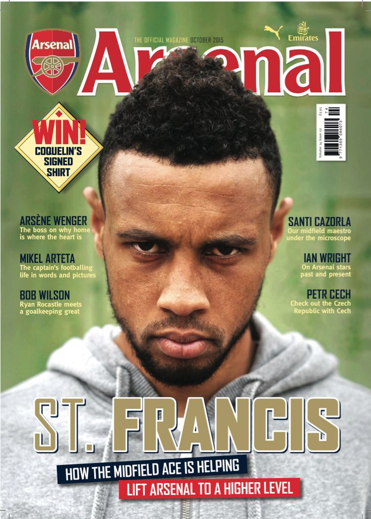 Francis Coquelin adorns the October issue of the Arsenal Magazine.