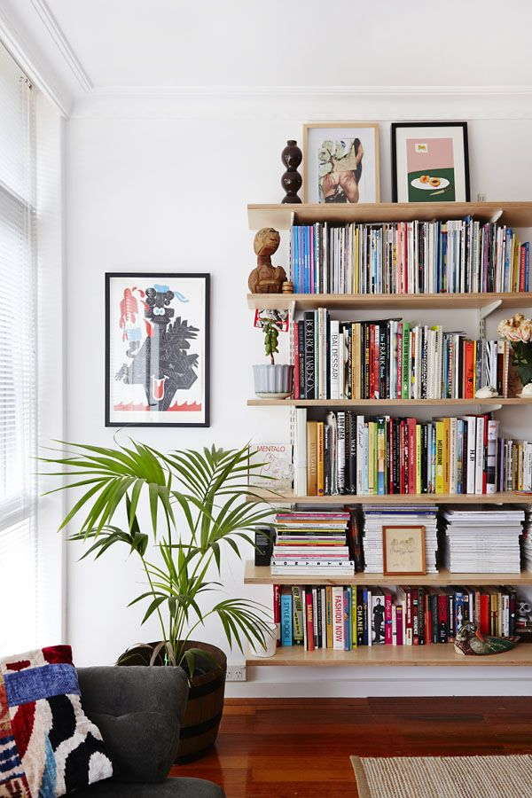 Such Simple Shelves But So Great Melbourne Home Tristan Ceddia And Adriana Giuffrida