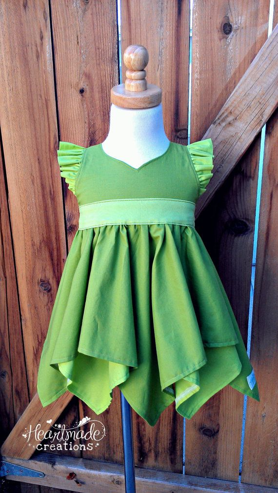 Tinkerbell Character Inspired Dress by HeartmadeCreations