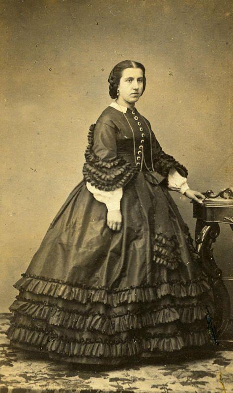 France Lille Woman Fashion of Second Empire Old CDV Carette Photo 1870