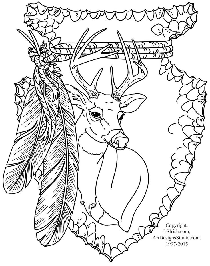 Free lora irish mule deer carving pattern wood carving for Chip midnight templates