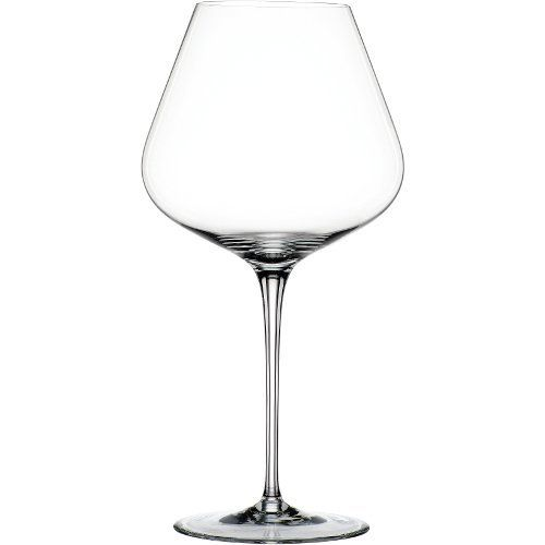 Spiegelau Hybrid Burgundy Wine Glasses, Set of 2 by Spiegelau. $29.99. Excellent for use with reds; designed specifically for Burgundy. Lead-free crystal with generous sized bowls. Exceptional durability and brilliant clarity. Spiegelau Hybrid Burgundy Wine Glasses, Set of 2. Dishwasher safe. This set of two Hybrid Burgundy wine glasses from Spiegelau feature a unique platinum finishing process to increase durability and add brilliant shine. The thin, laser cut and polis...