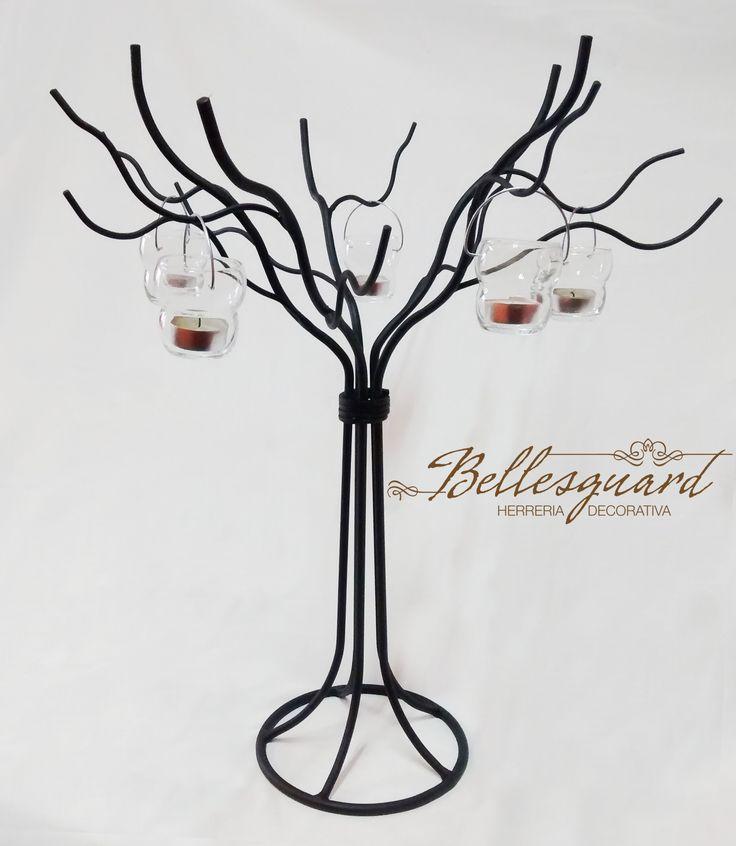 árbol centro de mesa en metal