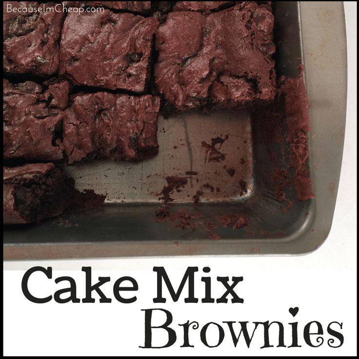 Fudgy Cake Mix Brownies Recipe