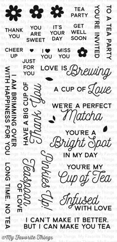 17.99 My Favorite Things - CUP OF TEA - Clear Stamp - Hallmark Scrapbook - 1