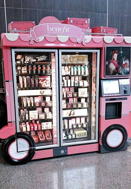 Vegas Trip Highlights post. This Benefit makeup vending machine is in the Las Vegas airport! For after those crazy Vegas nights when a girl NEEDS her concealer. :)