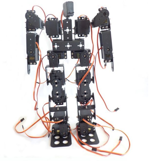 344.59$  Buy here - http://aliv4j.worldwells.pw/go.php?t=32658860517 - F17327 17DOF Biped Robotic Educational Robot Humanoid Robot Kit Servo Bracket with Remote Controller 344.59$