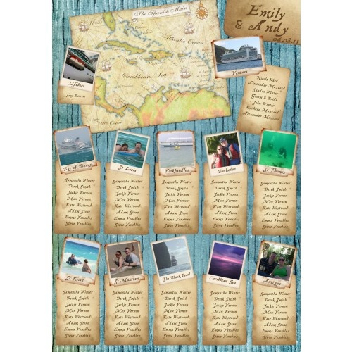 Love this idea! You could have the different places be the different destinations you've traveled as a couple, cute!