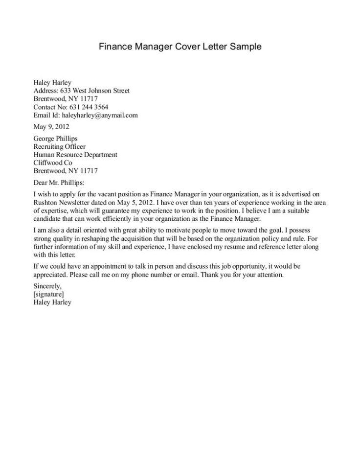 cover letter manager position sample catering Home Design Idea - sample cover letter finance