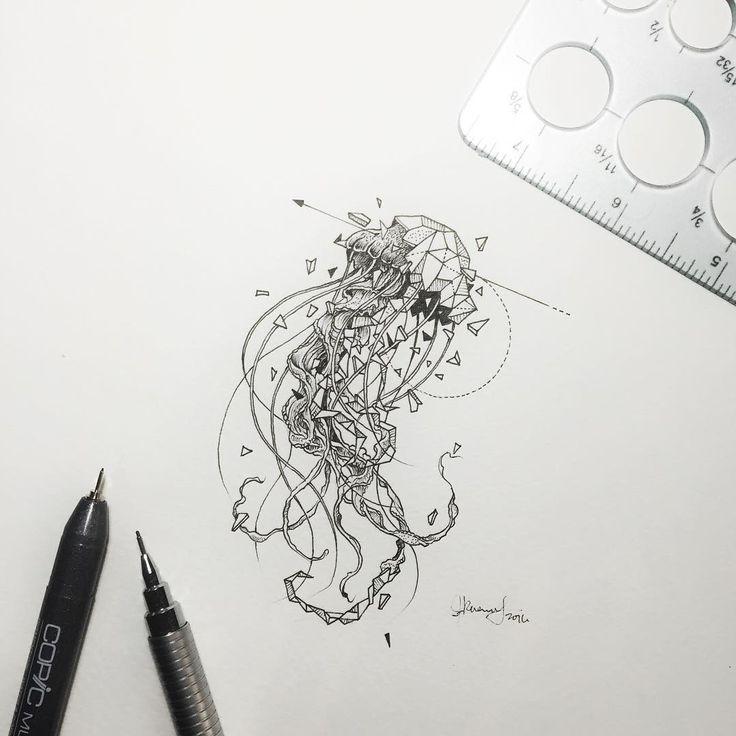 "40.5 mil curtidas, 261 comentários - K E R B Y R O S A N E S (@kerbyrosanes) no Instagram: ""Geometric Beasts   Jellyfish"""