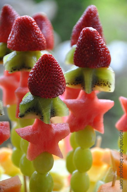 Fruit Kabobs by Rosina Huber, via Flickr