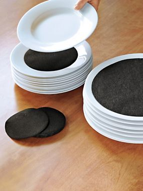 Felt Dividers - Plate Protectors - China Storage Liners   Solutions