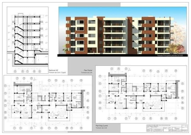 Pin By Eng Ahd Mando On All About Architecture In 2021 Small Apartment Building Design Small Apartment Building Plans Apartment Building