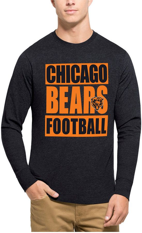 ... 47 Brand Mens Chicago Bears Compton Club Long-Sleeve T-Shirt - Blue S  ... 0f5ec502b