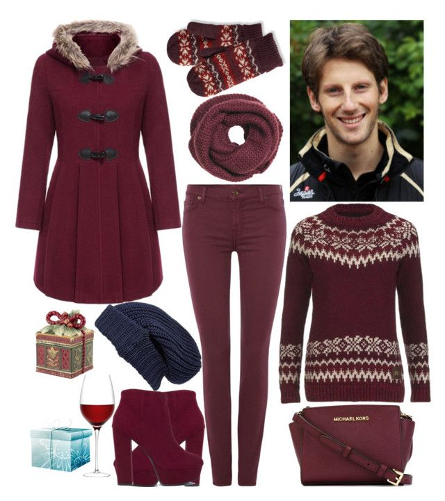 December date with Romain Grosjean by slytheriner on Polyvore featuring Superdry, 7 For All Mankind, MICHAEL Michael Kors, Treasure & Bond, L.L.Bean, H&M, Fitz and Floyd and LSA International