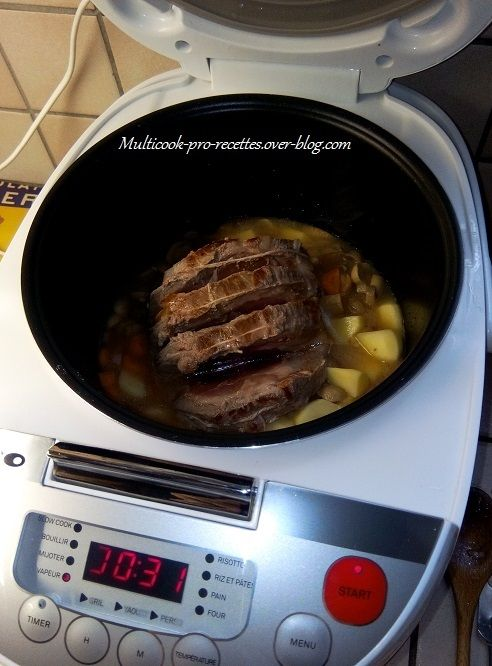 Ingrédients roti Pour cette recette, on peut utiliser un rôti de porc ou de veau. Pour 4 personnes. Mode WOK ou GRILL ou RECHAUFFER 15 minutes. Puis mode VAPEUR 40 minutes. I ngrédients: 1 rôti de porc ou de veau pour 4 personnes (environ 500 / 600 g)...