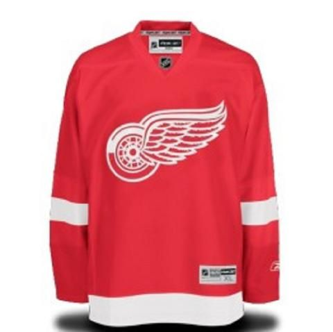 NHL Reebok Detroit Red Wings Premier Home No Name Jersey