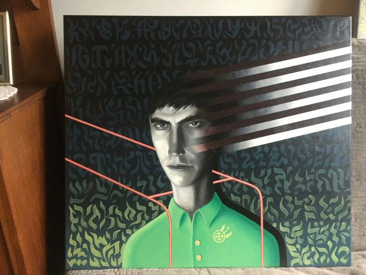 "Franciszek Grzesiak, ""Sordid 4"" 60x70 cm, acrylic on canvas"