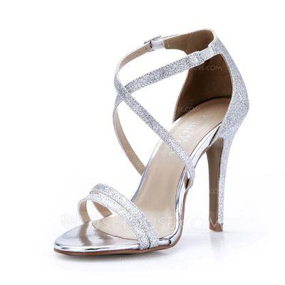 Sandales - $61.99 - Pailletes scintillantes Talon stiletto Sandales Escarpins chaussures (087047298) http://jjshouse.com/fr/Pailletes-Scintillantes-Talon-Stiletto-Sandales-Escarpins-Chaussures-087047298-g47298