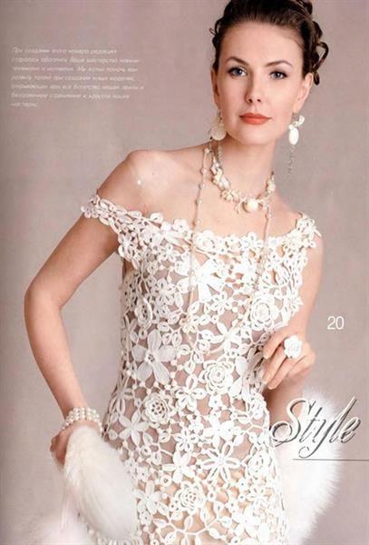 Свадебное платье крючком схемы бесплатно