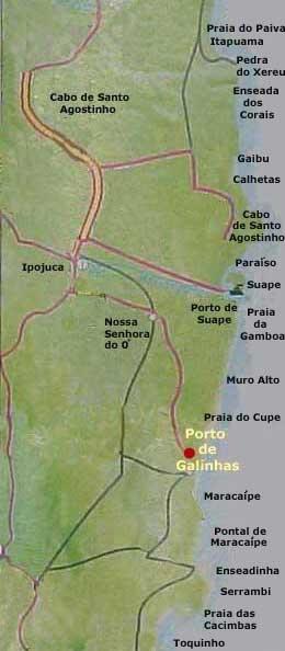 Mapa De Porto De Galinhas Porto De Galinhas Brasil Em 2018