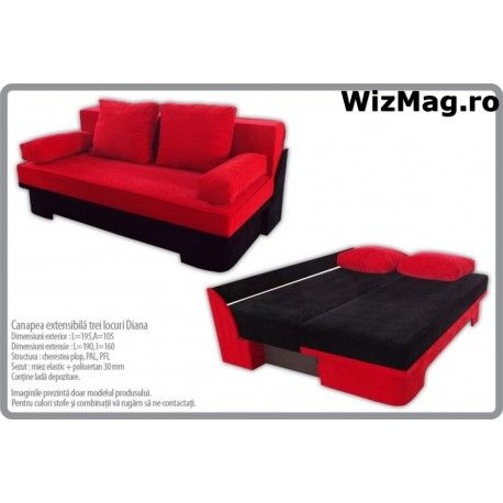 Canapea extensibila WIZ Diana 001