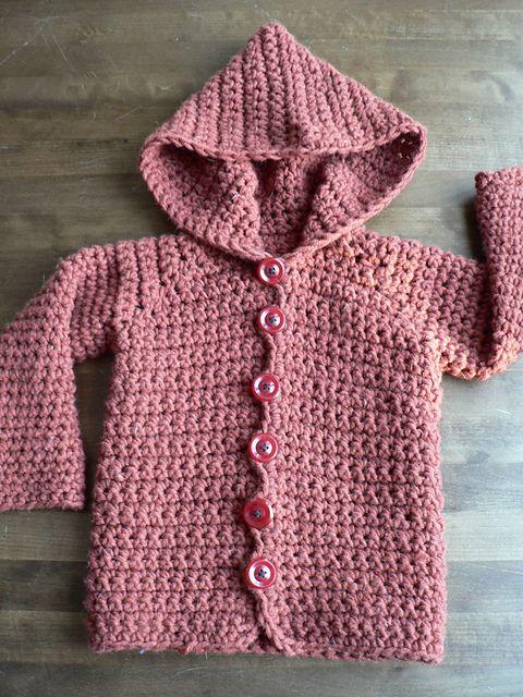 crochet hoodie -free pattern ༺✿Teresa Restegui http://www.pinterest.com/teretegui/✿༻