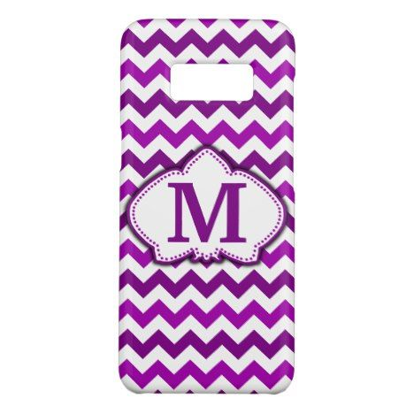 Orchid Purple Chevron Personalized Monogram Case-Mate Samsung Galaxy S8 Case #chevron #samsung #galaxys8 #cases #protect