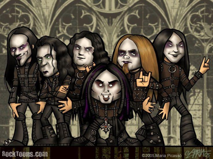 Resultado de imagem para cradle of filth band cartoon