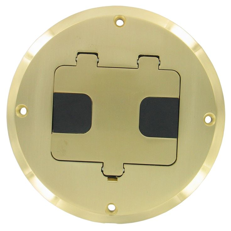Hubbell Raco Brass Plated Concealed Receptacle Floor Box