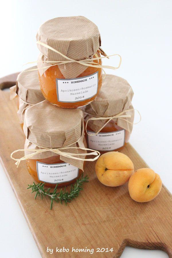 kebo homing: Aprikosen-Rosmarin-Marmelade... super gute Kombination...