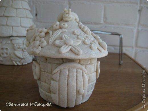 Поделка изделие Лепка домик старичка-лесовичка Тесто соленое фото 3