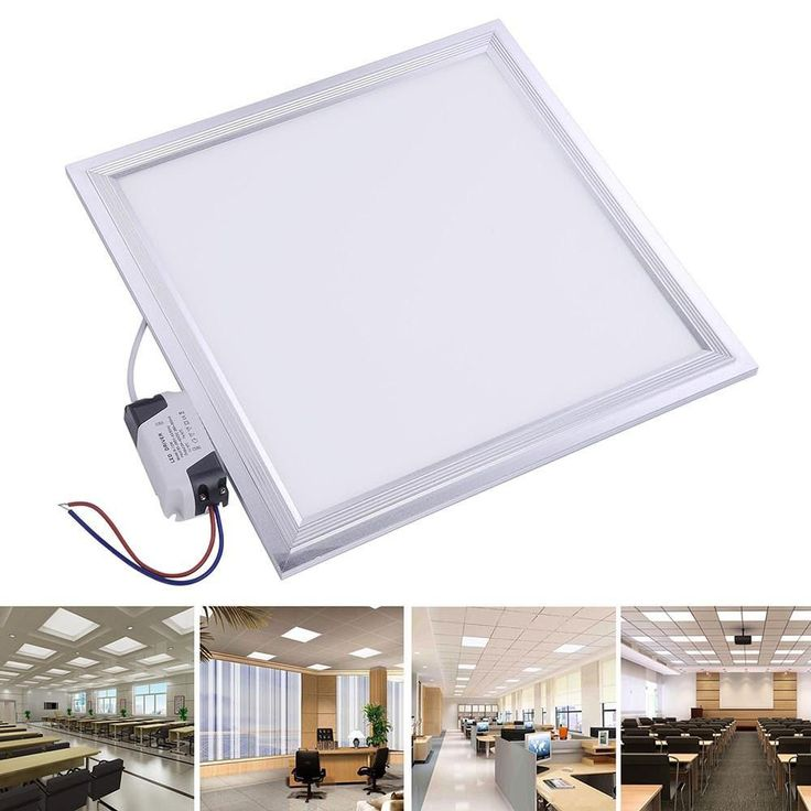 12W LED Ceiling Light Fixture Square Panel Cool White