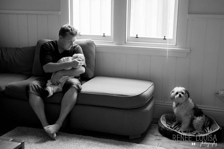 Family newborn lifestyle session with dog