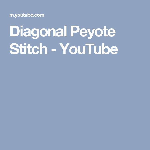 Diagonal Peyote Stitch - YouTube