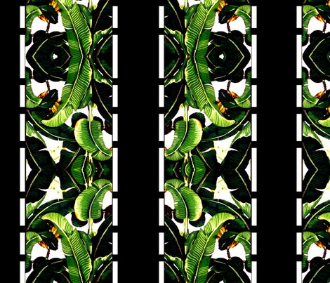 banana leaf  borderline fabric by nascustomwallcoverings on Spoonflower - custom fabric
