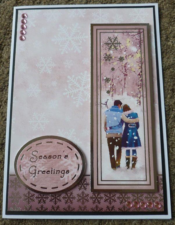 Handmade Card Hunkydory Christmas - using last years stash - Couple