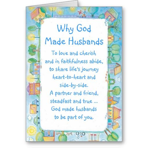 ==>Discount Happy Birthday Husband Card Why God Made
