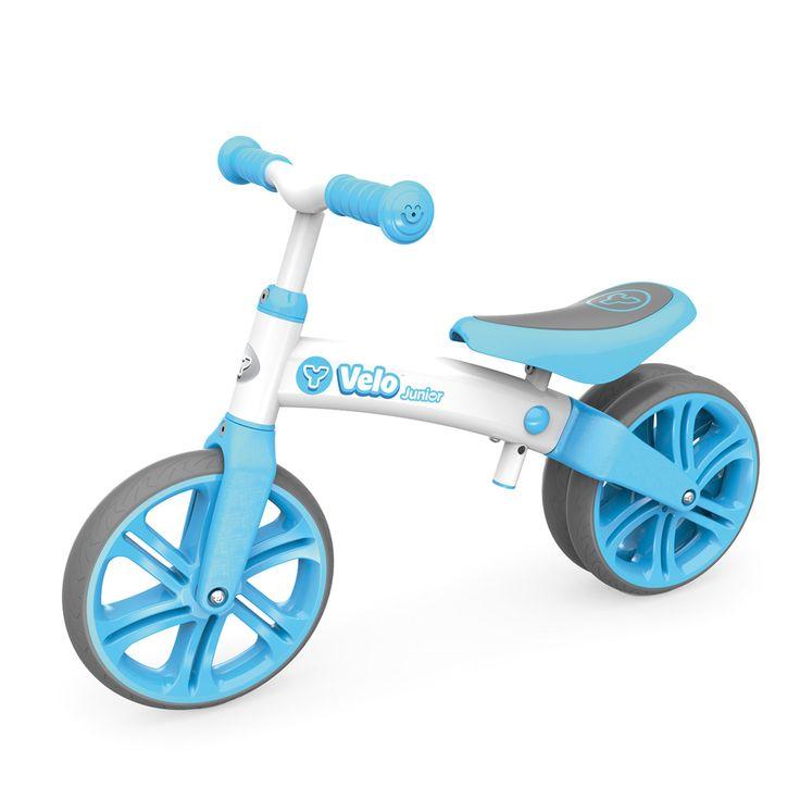 Porteur et draisienne Yvelo junior bleue pour enfant de 1 an et demi à 3 ans - Oxybul éveil et jeux