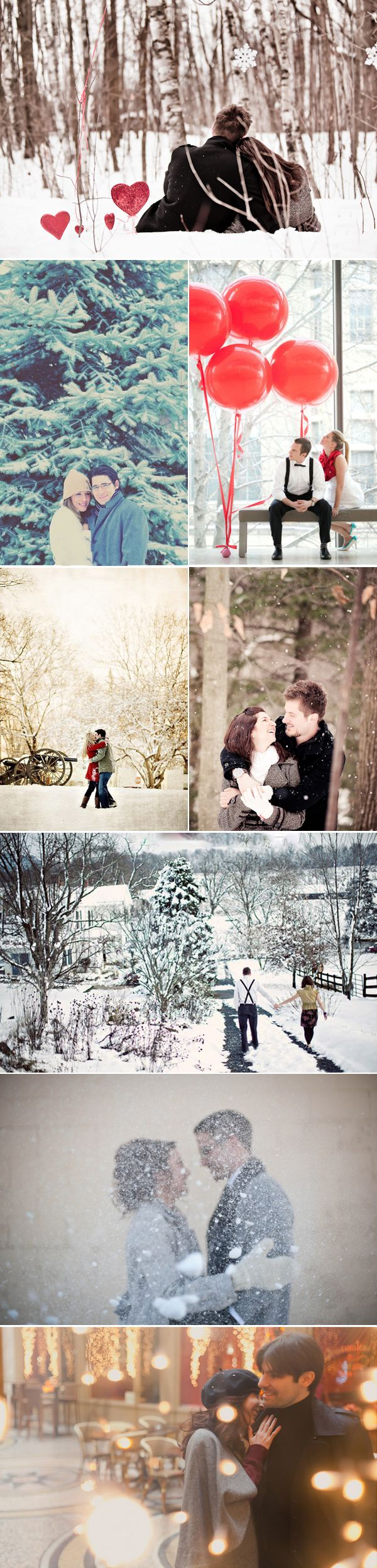 39 Winter Engagement Photos. All of my plans are in summer. Well, what the heck? What if I get married in winter?