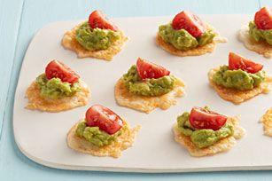 Guacamole-Topped Cheese Crisps recipe